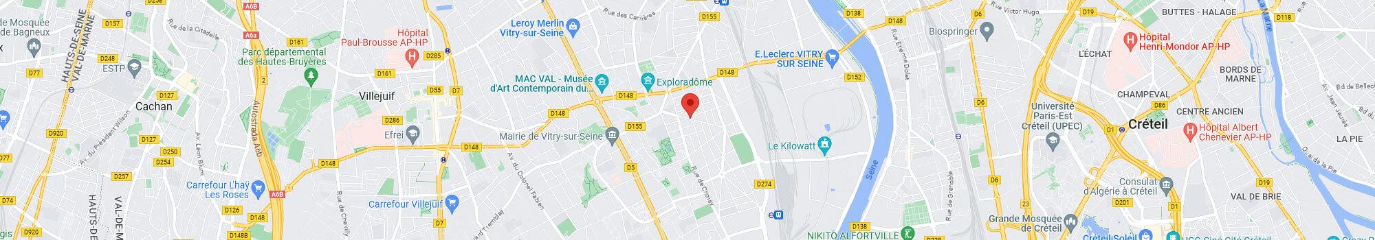 Localisez nous sur Google Map